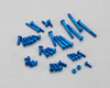 Aluminum Screw set for EX-1 KIY Blue