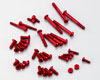 Alminum screw Set for EX-1 KIY RED