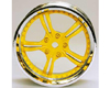 HW Wheel 07 Chrome/Yellow (4)
