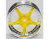 HW Wheel 10 Chrome/Yellow (4)