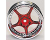 HW Wheel 10 Chrome/Metalic Red (4)