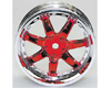 HW Wheel 11 Chrome/Metalic Red (4)